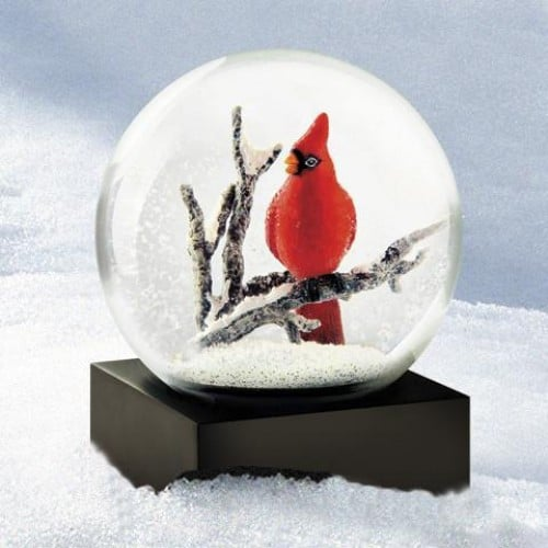 Holiday Gift Singing Cardinal Snow Globe