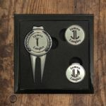 Personalized Divot Tool and Hat Clip Golf Ball Marker Set