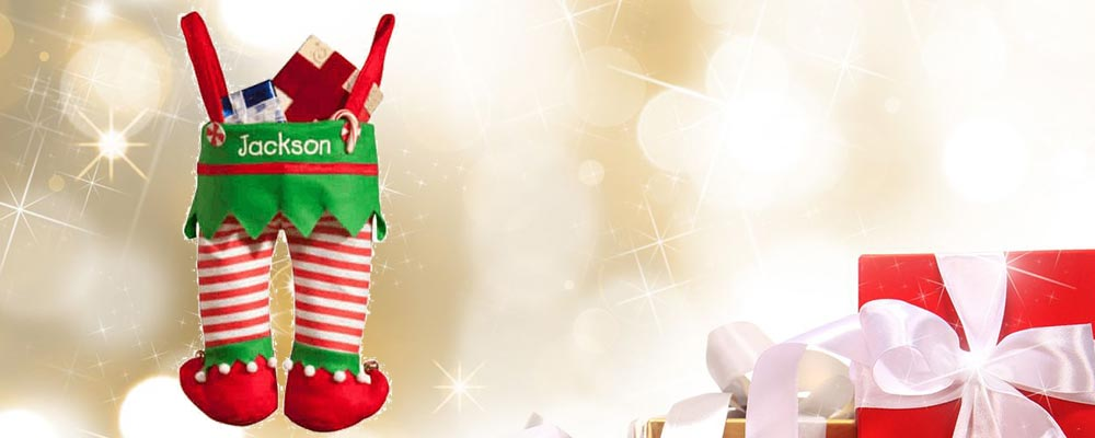 Personalized Elf Pants Stocking